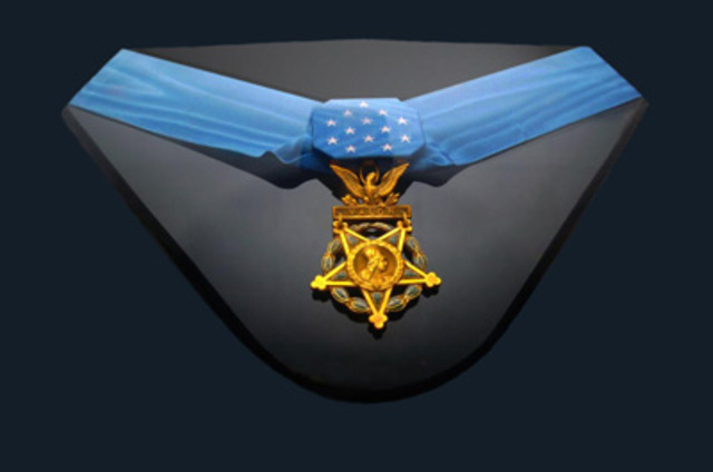 Receives Medal of Honor from LBJ