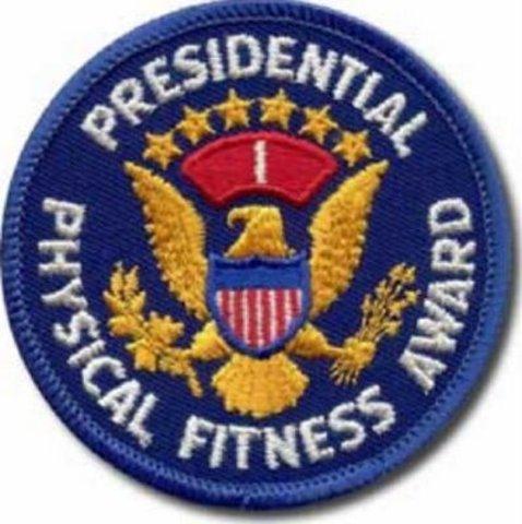 Presidential physical fitness award