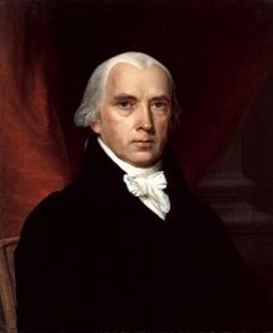 Fourth President : James Madison 1809-1817