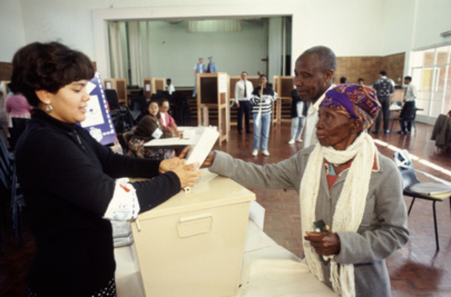 1st all race elections in South Africa