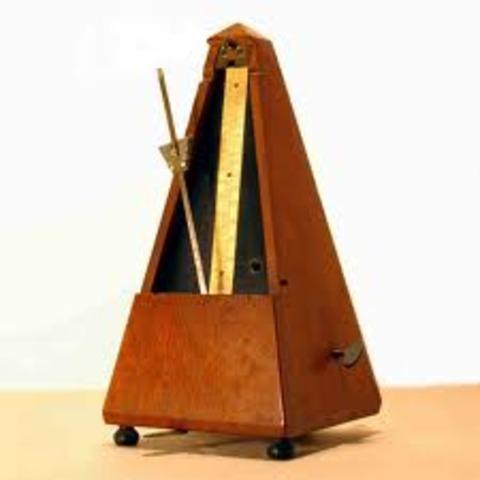 1814. Invento del metrónomo