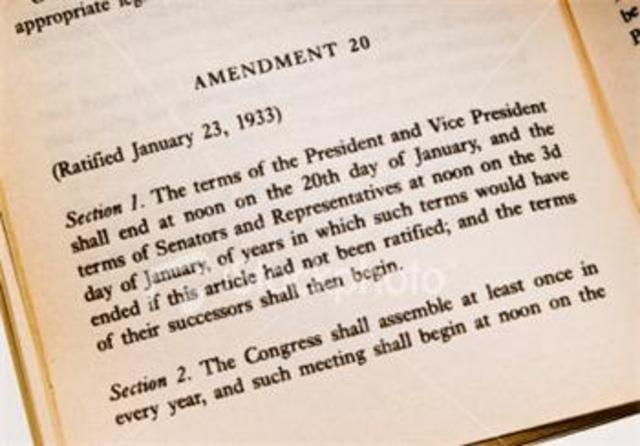 Ratification of the 20th amendment