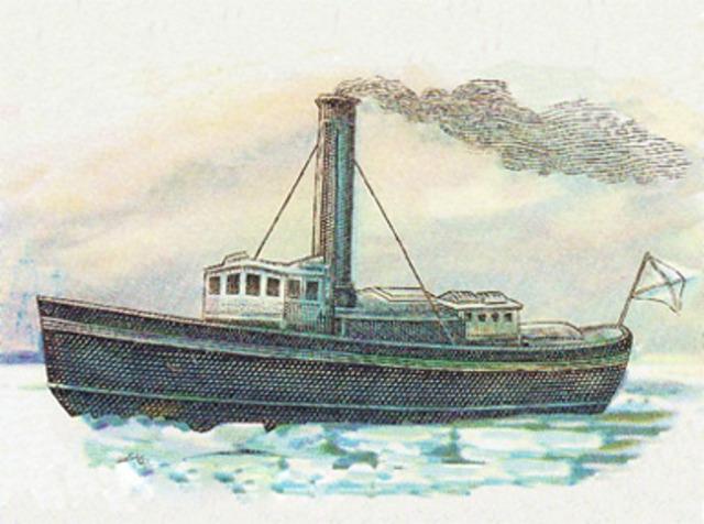 First Steam Powered Ship