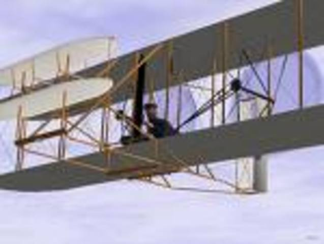 first airlane flight by the wright brothers