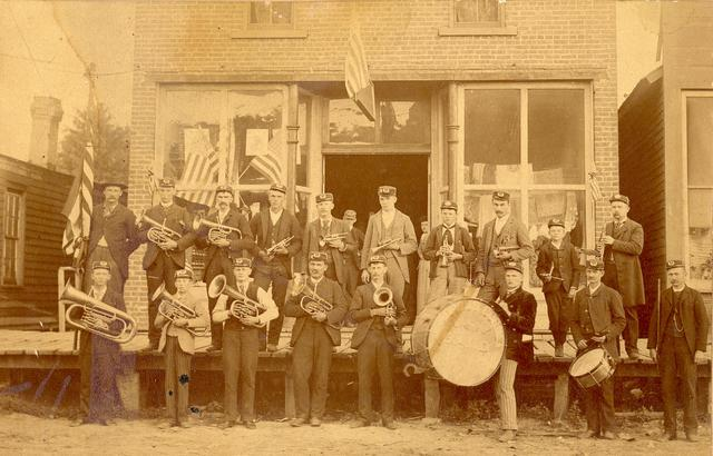 Bands play for tropps and local towns to raise morale