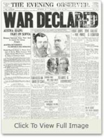 Austria declares war on Serbia