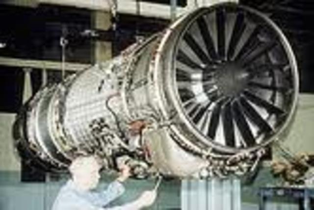 El motor aeronaútico  de turborreacción