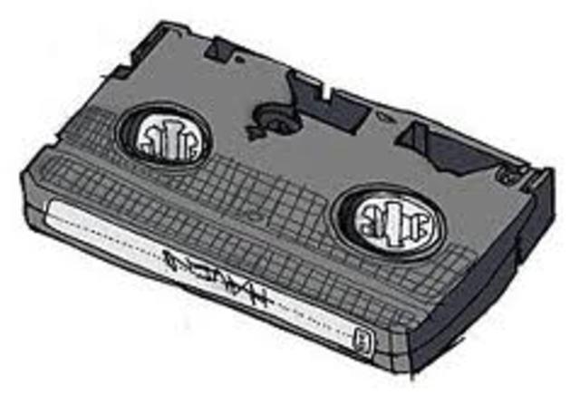 la cinta de vídeo