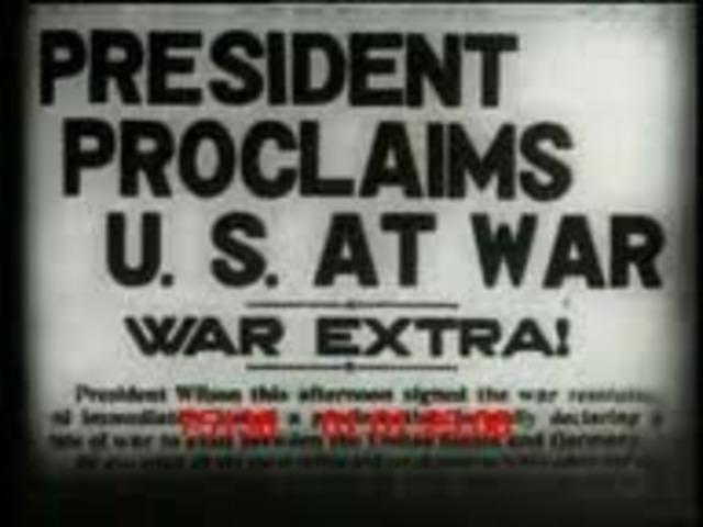 The US declares War