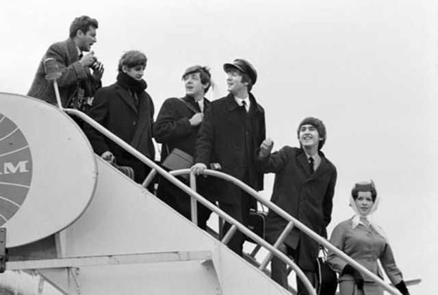 The Beatles arrive in the U.S.