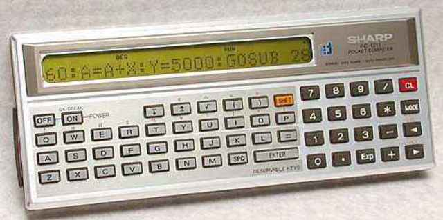 Sharp PC1211 / Tandy TRS80 PC-1