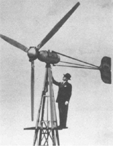 First Wind Turbines at Remote Farms