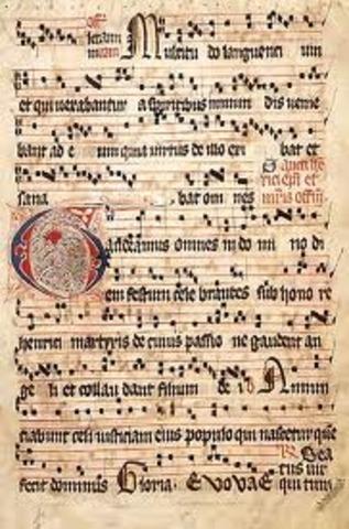 Notació quadrada, tetragrama i nom de les notes