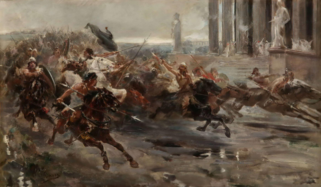 Siglo V - Invasión de los Bárbaros.