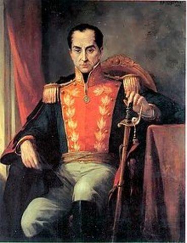 Dictadura de Simon Bolivar. (1823-1826)