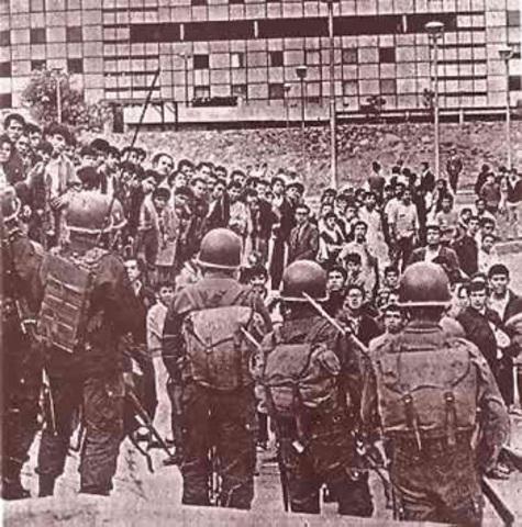 La represión.