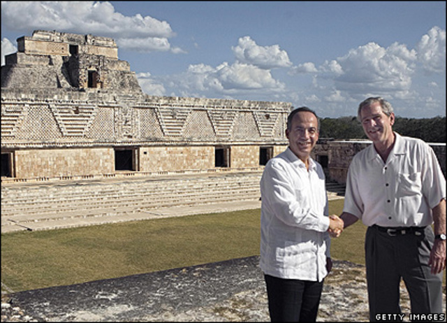 George Bush en Mexico.