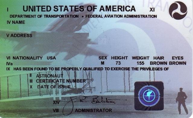 Creates Fake FAA License