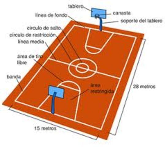 Se establecen  como medida de terreno de juego: 25x15 m. con 2x1 cm. de variación