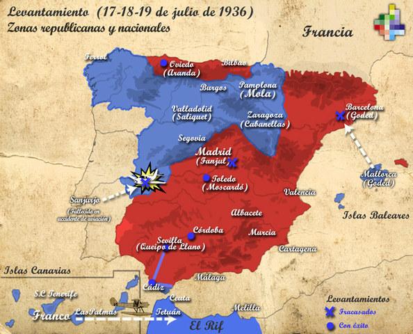 Aixecaments militars del 17, 18 i 19 de juliol de 1936