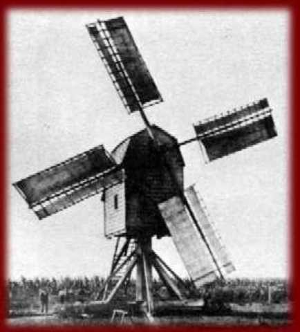 The First European Windmill is Developed