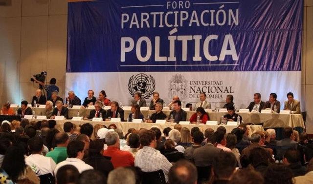 Foro sobre participación política de las Farc