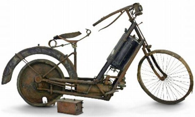 The first motorcycle was invented.