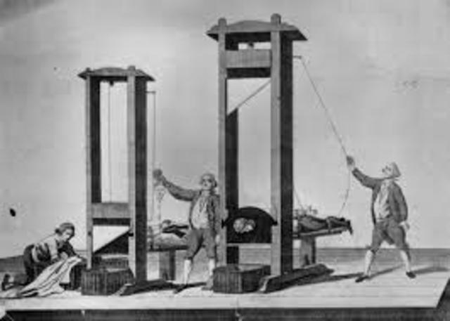 The guillotine was invented