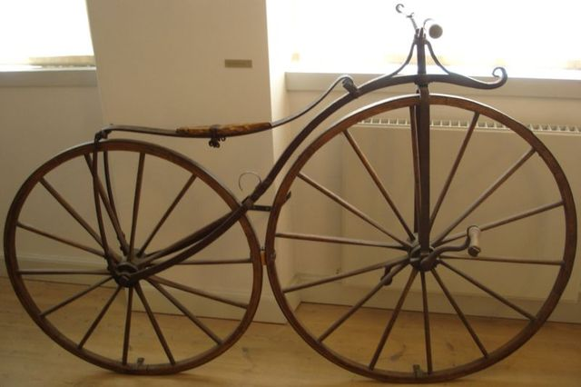 Pierre Michaux invents a bicycle.