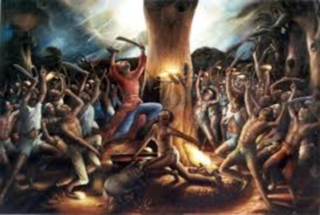Dutty Boukman organizes slave revolution