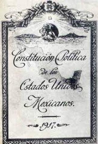 Constitucion de 1917, se consagra el derecho al trabajo digno en el articulo 123 Constitucional.