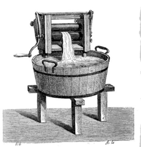 Invention de la machine à rouleaux