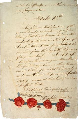 Treaty of Paris-1783