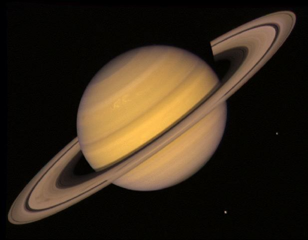 Saturn's rings discovered