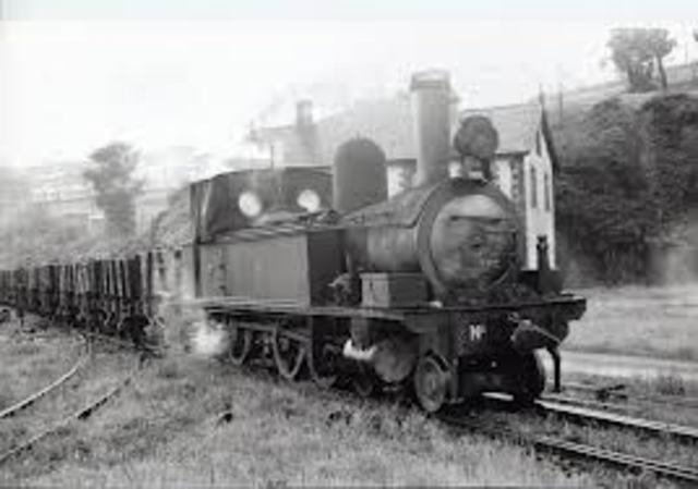 primer tren minero  con maquina de vapor entre stockyon y daeligton