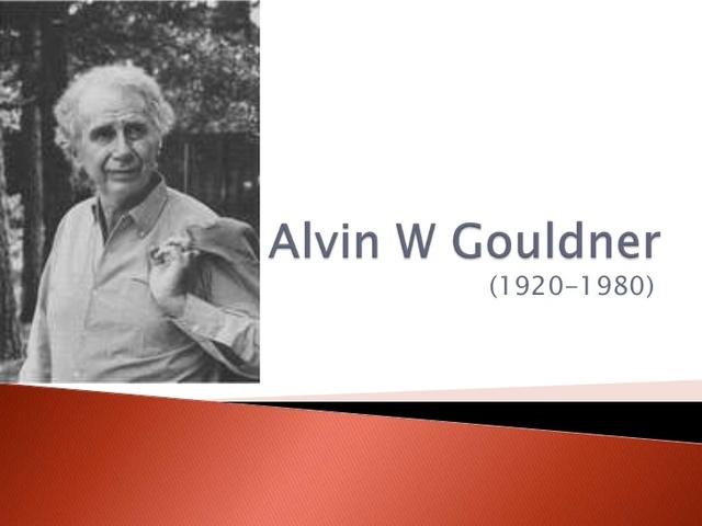 Alvin Gouldner: La crisis de la sociología occidental