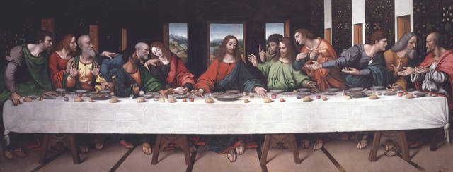 Da Vinci paints The Last Supper