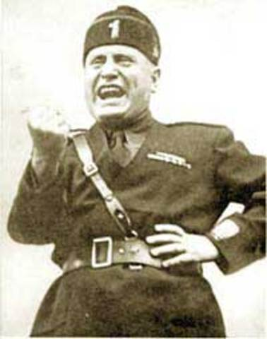 Mussolini becomes Prime Minister of Italy