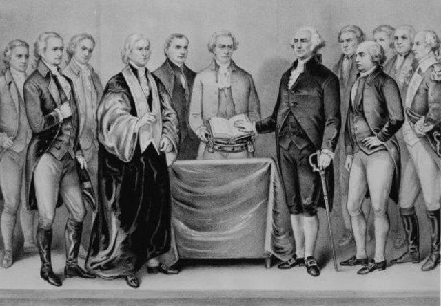 Washington Sworn in as president