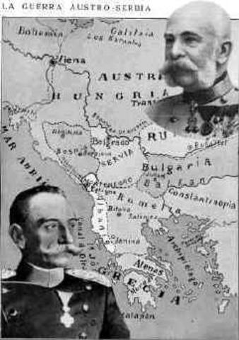 Declaracion de guerra de Auntria-Hungria a Serbia