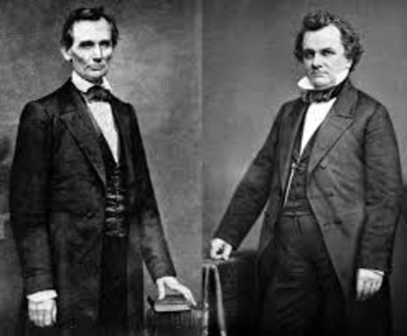 First of the lincoln Douglas Debates