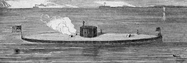 USS Monitor, the first ironclad, is launched
