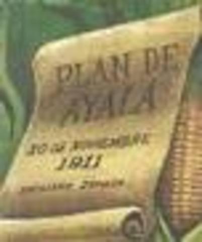 Emiliano Zapata proclma el Plan de Ayala
