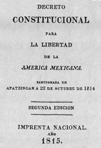 La promulgación de la Constitución de Apatzingán