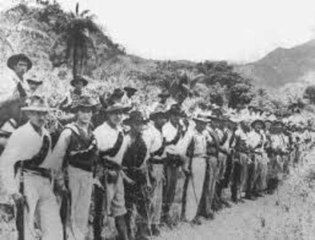 Se inician las guerrillas por parte de los liberales