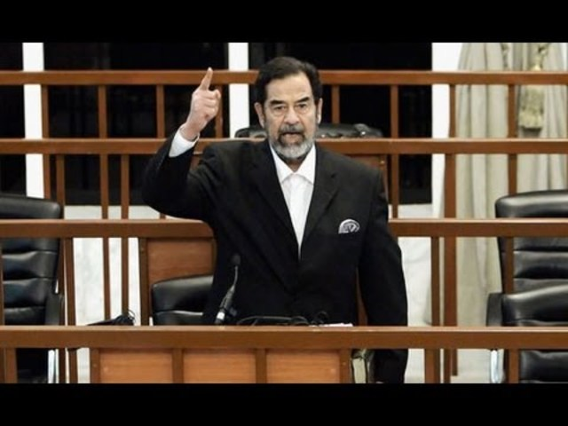Saddam Hussein's Trial Begins