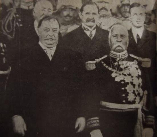 Entrevista de Porfiriio Díaz y William H. Taft