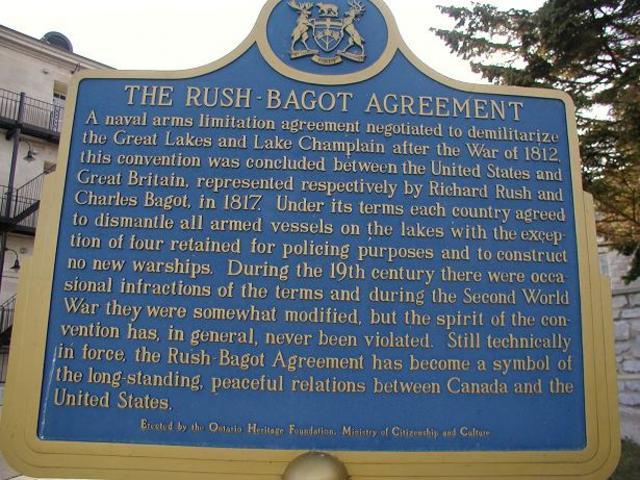 Rush-Bagot agreement,