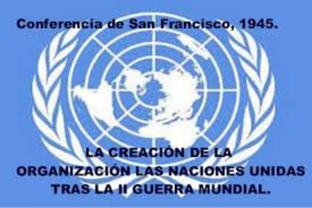 Creaciòn de la  Organizaciòn de las Naciones Unidas-ONU.