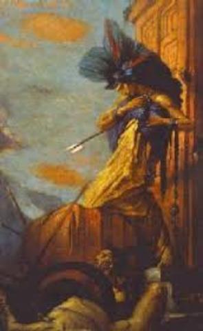 Cortes kills Montezuma